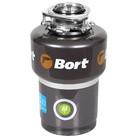 Измельчитель пищевых отходов Bort TITAN 5000, 560 Вт, 3 ступени, 5.2 кг/мин, 90 мм, чёрный