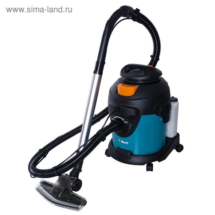 Пылесос Bort BSS-1415-W, 1400 Вт, всасывание 200 Вт, сухая и влажная уборка, 15 л, синий