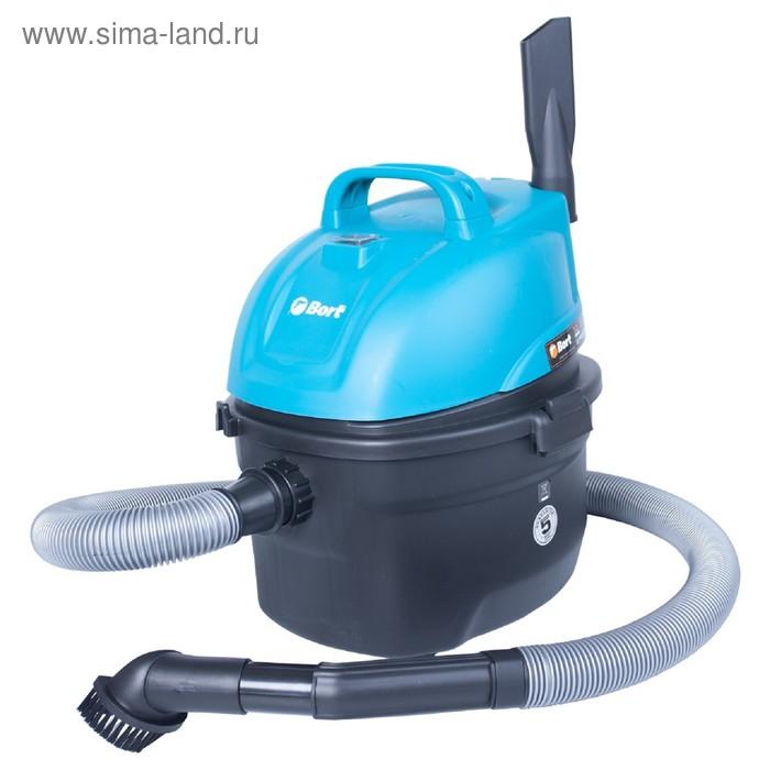Пылесос Bort BSS-1008, 1000 Вт, всасывание 200 Вт, сухая и влажная уборка, 8 л, синий