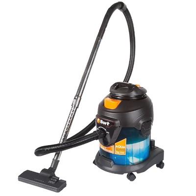 Пылесос Bort BSS-1415-Aqua, 1400 Вт, всасывание 200 Вт, сухая и влажная уборка, 15 л, чёрный