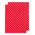 Коврики влаговпитывающие AUTOPROFI 38х50, красный, набор 2 шт