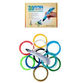 Комплект 3Д ручка NIT-PEN2 фиолетовая + пластик PLA 10 цветов по 10 метров