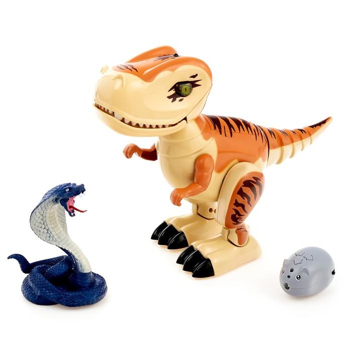 """Динозавр радиоуправляемый """"Робозавр"""", световые и звуковые эффекты, работает от батареек"""