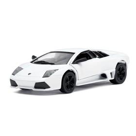 Машина металлическая Lamborghini Murcielago LP640, масштаб 1:36, открываются двери, инерция, цвет белый