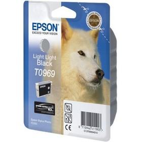 Картридж струйный Epson T0969 C13T09694010 светло-чёрный для Epson R2880 (11мл)
