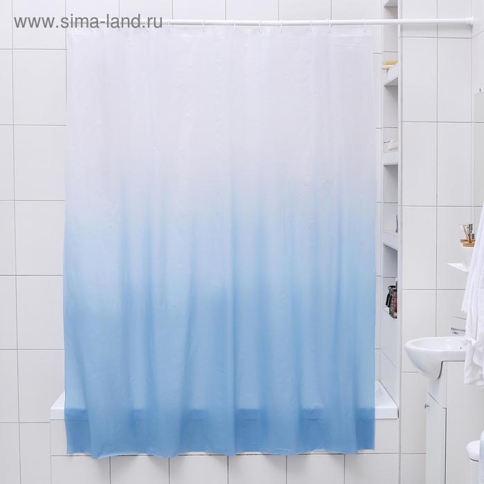 """Штора для ванной 180×180 см """"Градиент"""", EVA"""