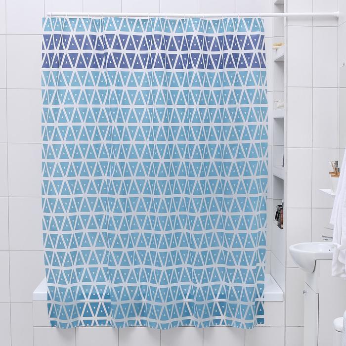 """Штора для ванной 180×180 см """"Узоры"""", EVA"""