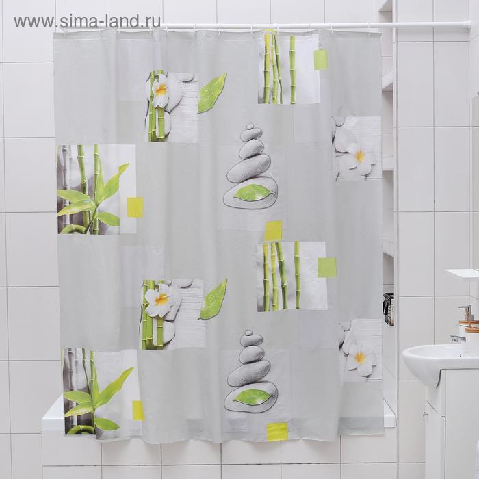 """Штора для ванной 180×180 см """"Умиротворение"""", EVA"""