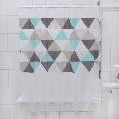 Штора для ванной комнаты Доляна «Плиточка», 180×180 см, EVA