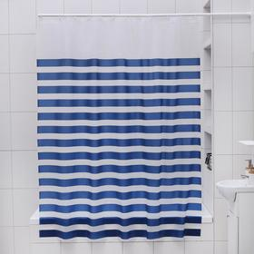 """Штора для ванной """"Полосы"""", 180х180 см, EVA"""