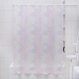 Штора для ванной комнаты «Экономь», 180×180 см, PEVA, рисунок МИКС Ош