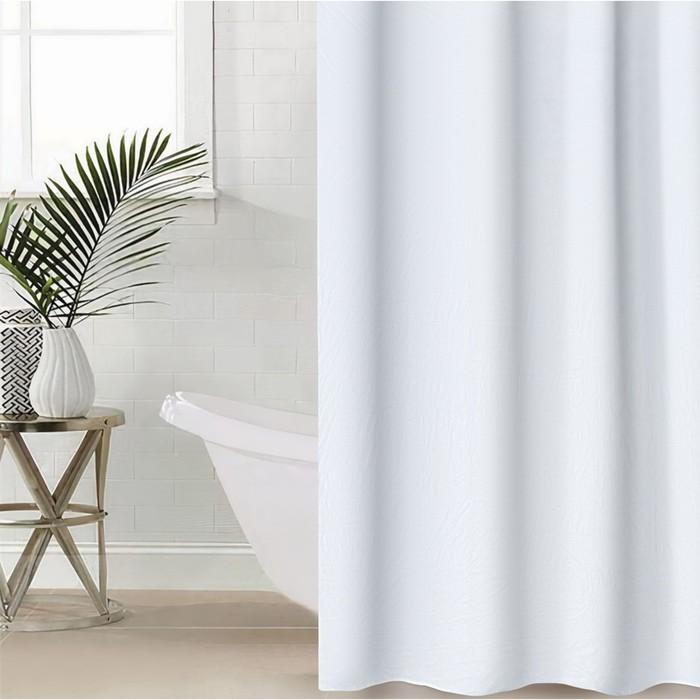 Штора для ванной Экономь, 180180 см, PEVA, цвет белый