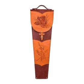 Шампура подарочные 6 шт. в колчане из натуральной кожи Ош