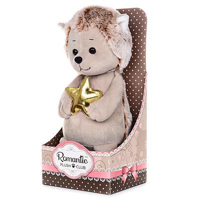 Мягкая игрушка «Романтичный Ежик с Золотой Звездочкой» 20 см