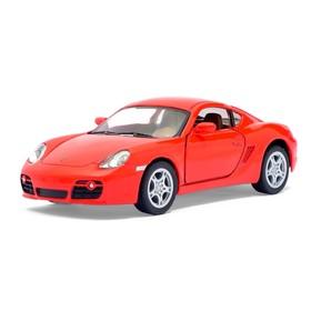 Машина металлическая Porsche Cayman S, масштаб 1:34, открываются двери, инерция, цвет красный