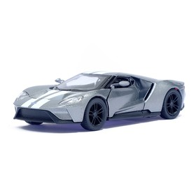 Машина металлическая Ford GT, масштаб 1:38, открываются двери, инерция, цвет серый