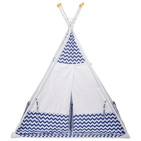 Вигвам «Зигзаг», размер 130 × 130 см, высота 147 см, синий Ош