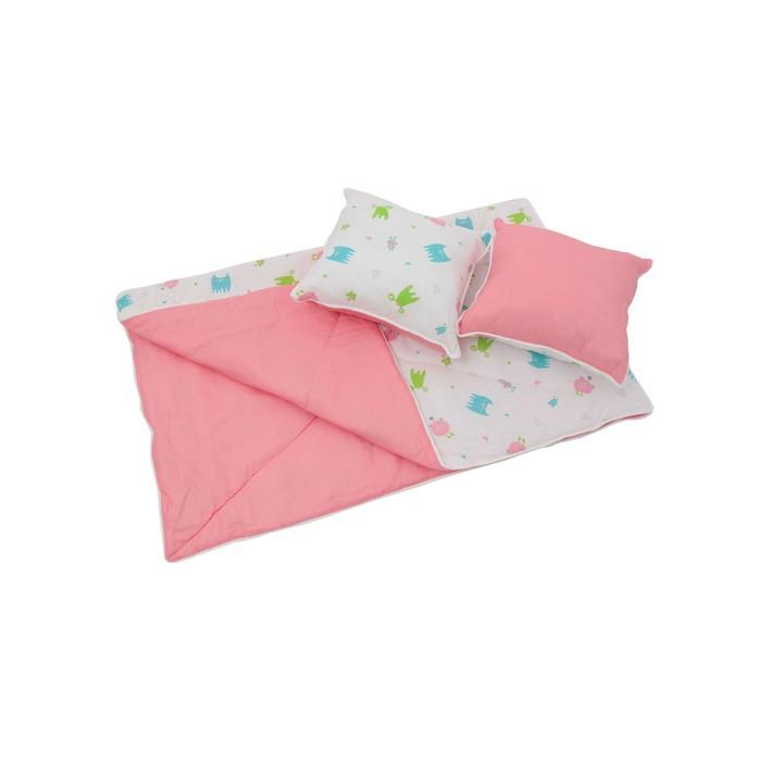 Комплект для вигвама: одеяло-110 ? 140 см, наволочка-40 ? 40 см-2 шт, розовый, монстрики