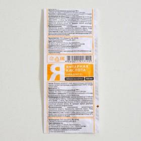 Янтарная кислота, 10 таблеток