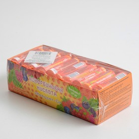 Аскорбиновая кислота с сахаром и натуральными плодовыми порошками 10 таблеток Квадрат-С клубника