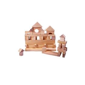 Деревянный конструктор, неокрашенный, 35 деталей