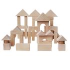 Деревянный конструктор, неокрашенный, 51 деталь, в пакете