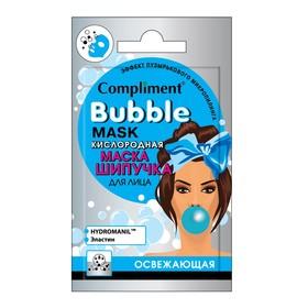 Маска-шипучка для лица Compliment Bubble Mask «Освежающая», кислородная, саше