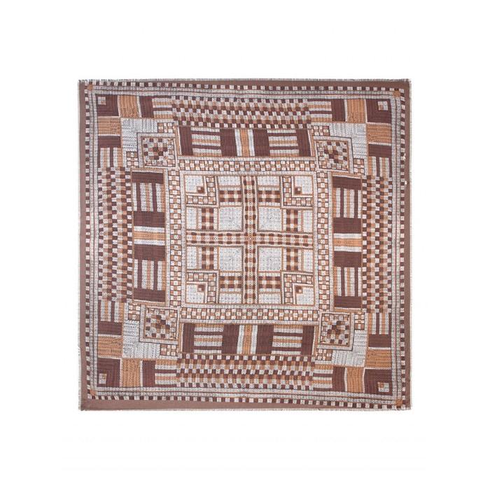 Платок 140×140 см, коричневый