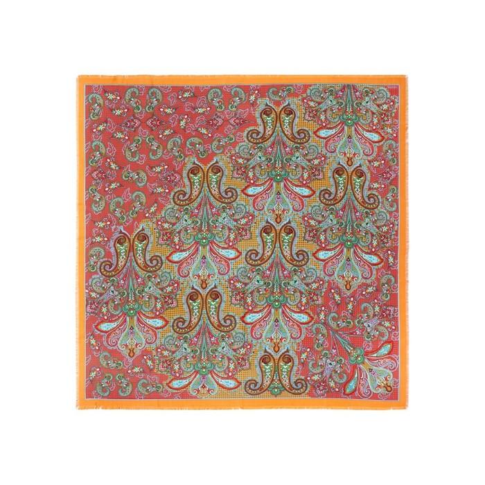 Платок 140×140 см, красный