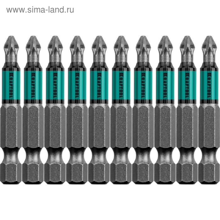 "Биты KRAFTOOL Optimum Line 26124-1-50-10, Е 1/4"", 50 мм, 10 шт., PZ1"