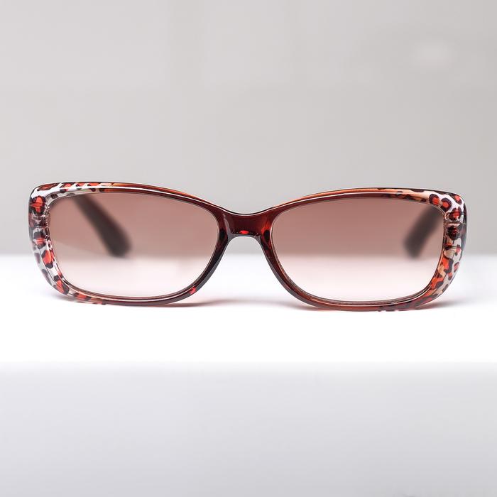 Очки корригирующие FM 708 C146, размер 13,6х12,9х3,8, цвет леопардовый, тонированные, +2,5