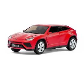 Машина металлическая Lamborghini Urus, масштаб 1:38, открываются двери, инерция, цвет красный