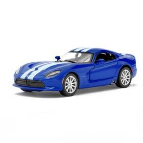 Машина металлическая SRT Viper GTS, масштаб 1:36, открываются двери, инерция, цвет синий