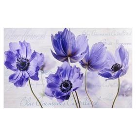 "Картина-холст на подрамнике ""Цветы"" 60х100 см"
