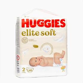 """Подгузники """"Huggies"""" Elite Soft 2, 4-6кг, 82 шт"""