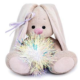 Мягкая игрушка «Зайка Ми с новогодней подвеской», 15 см