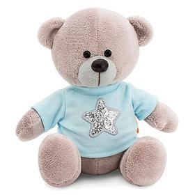 Мягкая игрушка «Медведь Топтыжкин», звезда, цвет серый, 17 см