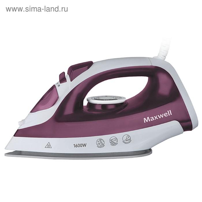 Утюг Maxwell MW-3041 VT, 1600 Вт, керамическая подошва, бело-фиолетовый