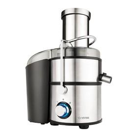 Соковыжималка Vitek VT-3668 ST, центробежная, 1500 Вт, 2 скорости, 1.1 л/2 л, серебристая Ош