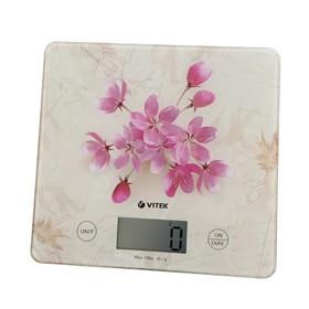 Весы кухонные Vitek VT-8023 PK, электронные, до 10 кг, розовые