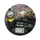 Весы кухонные Vitek VT-8029 BN, электронные, до 5 кг, коричневые