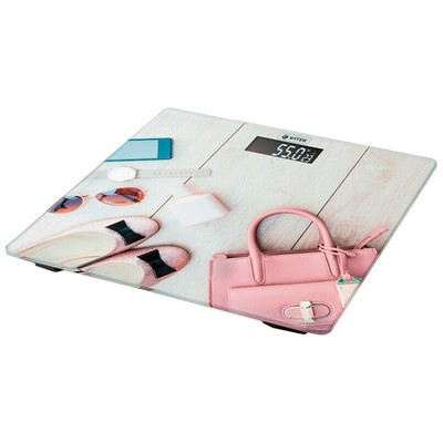 Весы напольные Vitek VT-8074 PK, электронные, до 180 кг, 2хAAA, стекло, розовые - Фото 1