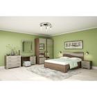 Спальня Сорренто 1, набор-тумбы 2 шт, кровать 1600,комод,трюмо,зеркало,шкаф, Ясень шимо