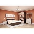 Спальня Сорренто 2, набор-тумбы 2шт, кровать 1600, шкаф, комод, зеркало, Венге/Белфорд