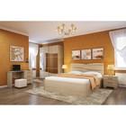 Спальня Сорренто 4, набор-тумбы 2шт, кровать 1600 с ПМ, трюмо, шкаф, Дуб сонома