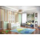 Детская Забава 1, набор-комод, кровать с ящ, шкаф, стол, полка, пенал, Белфорд/Салатовый