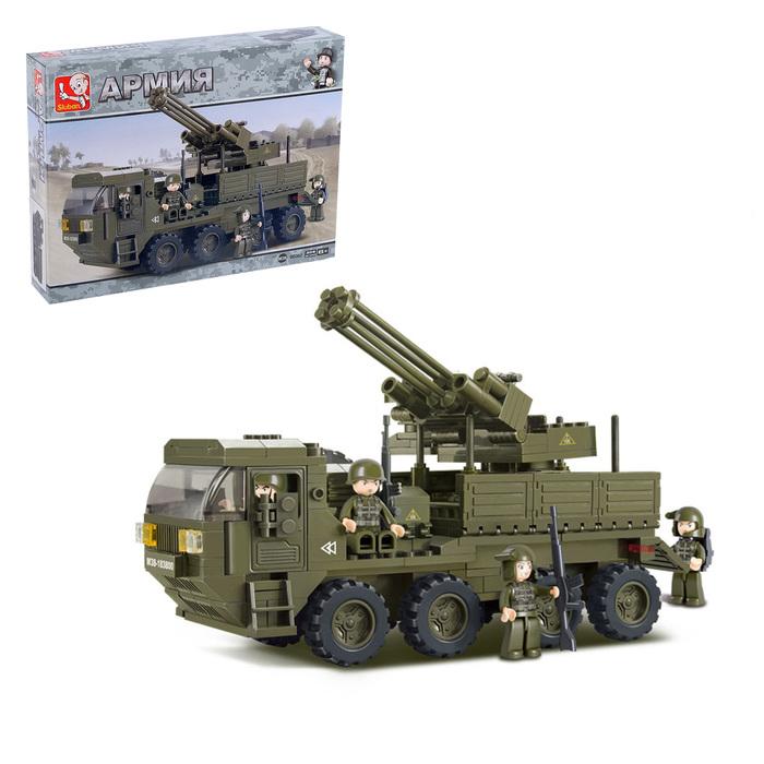 """Конструктор Сухопутные войска 2 """"Передвижной пулемет"""", 306 деталей"""