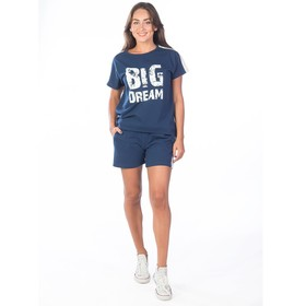 Костюм женский Big Dream, размер 48, цвет тёмно-синий Ош