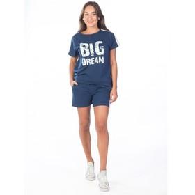 Костюм женский Big Dream, размер 52, цвет тёмно-синий Ош