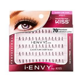 Накладные пучки Kiss Ienvy «Классика» Individual Lashes Classic Short Black KPE01C, 70 шт.